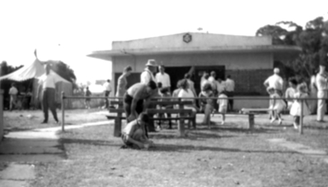 Camberwell Clay Target Club - The clubhouse, scoreboard, members & families