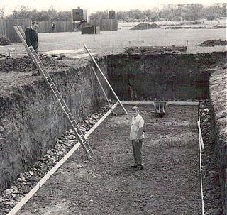 1973 Trench excavation