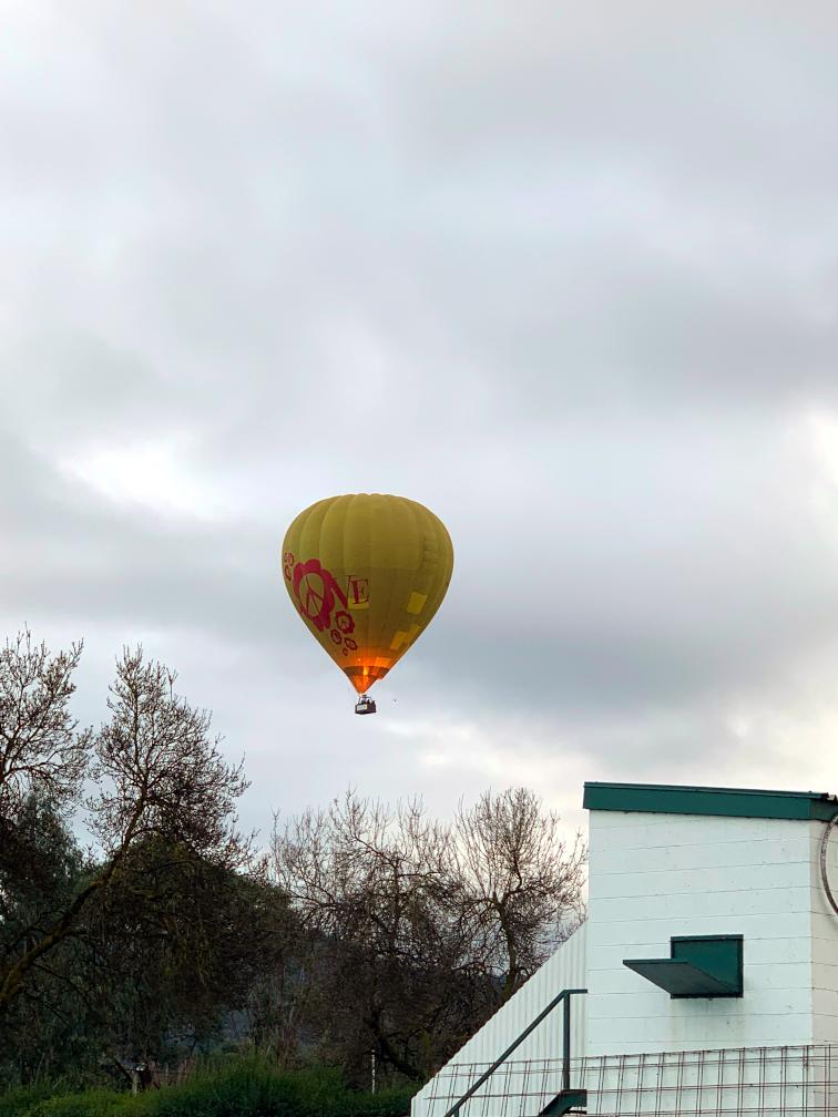 Hot air balloon over MGC July 2019