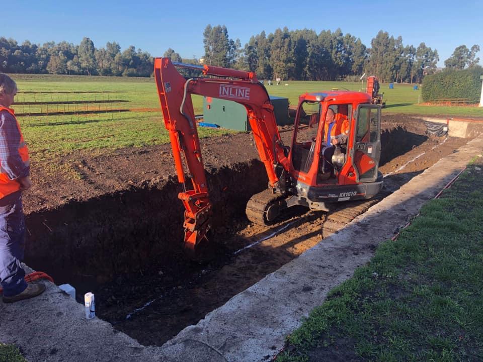Digging the floor