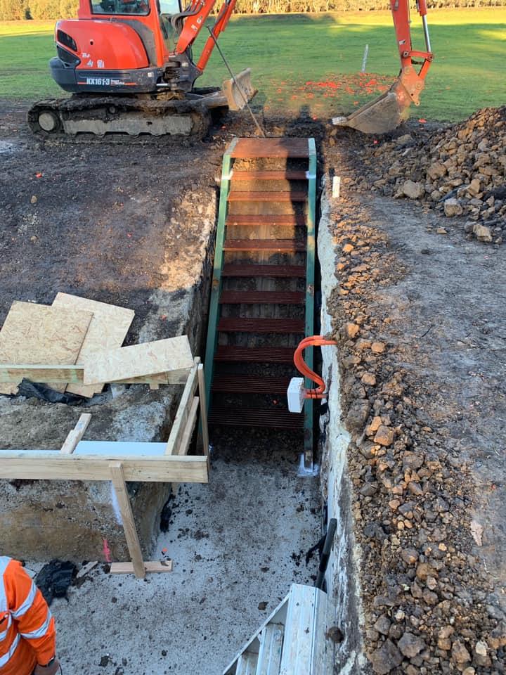 Reusing an old skeet-house stairway