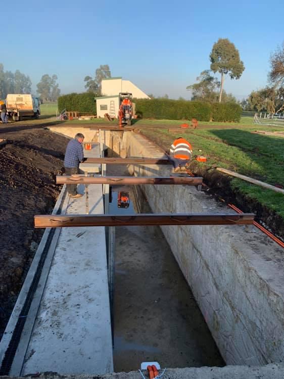 Setting the roof bearers