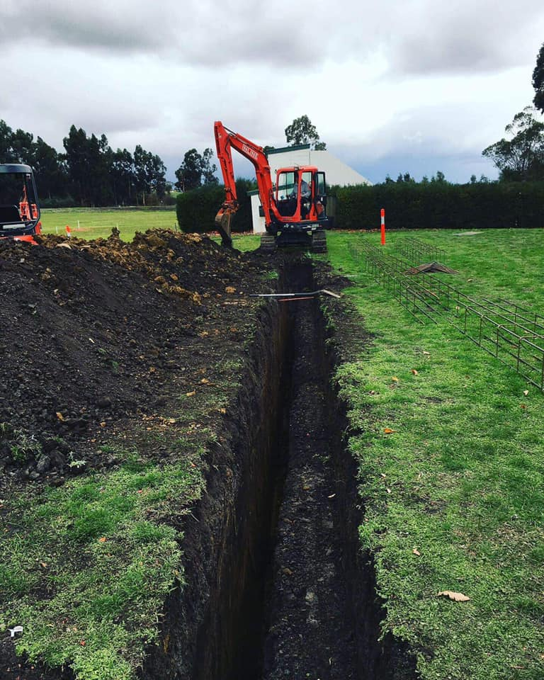 The trenching begins!