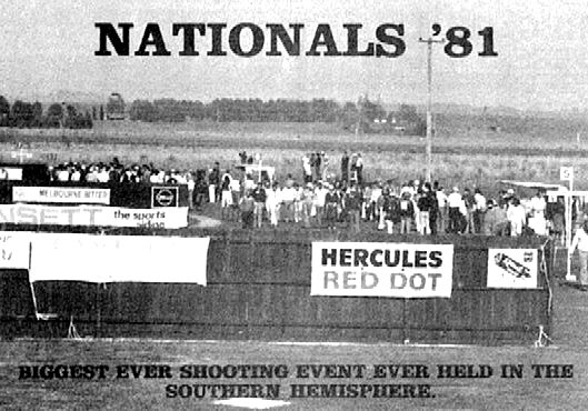 The 1981 Nationals were regarded as the biggest shooting event in the southern hemisphere
